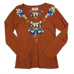JWLA Love Life Embroidered Long Sleeve Tshirt